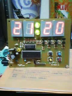 秋月のデジタル時計Kit