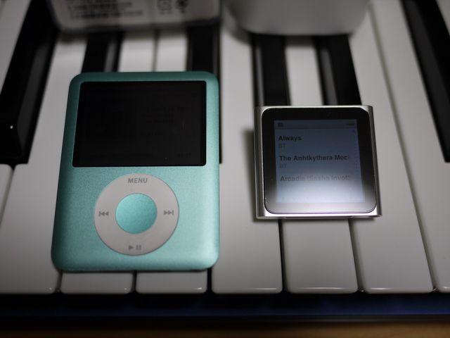 iPod nano 第3世代と第6世代