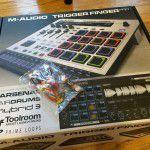 M-audio Trigger Finger Pro とおまけのアメ。クリスマスだから?