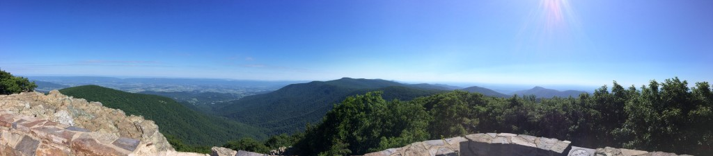 From Hawksbill Summit