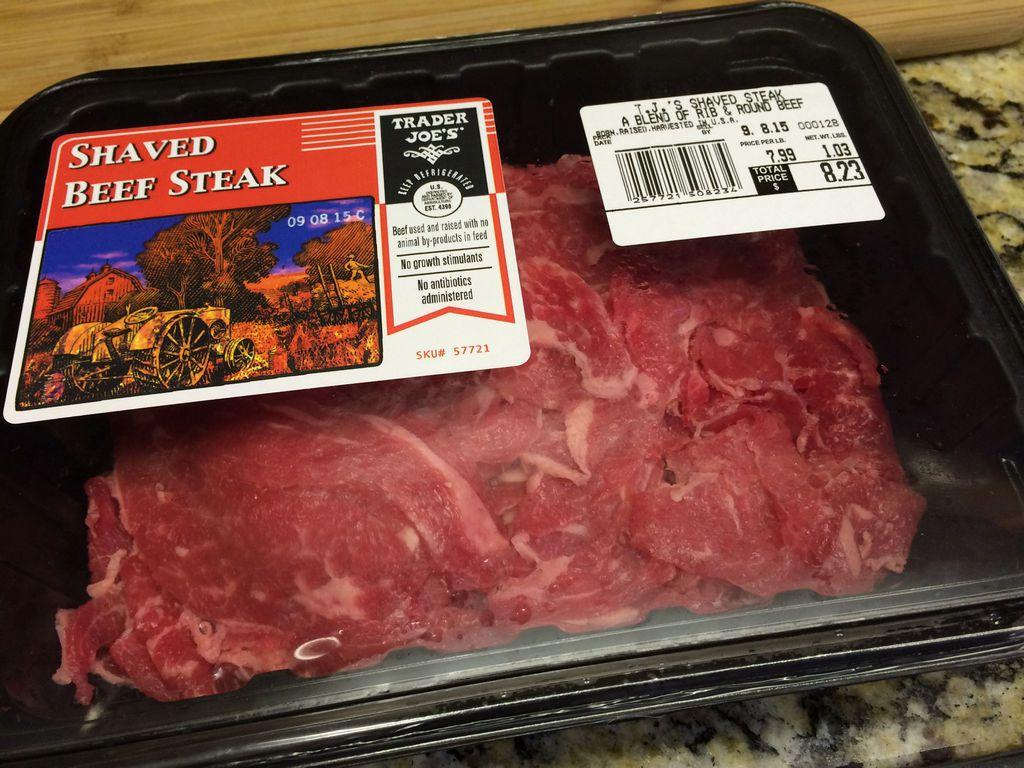 アメリカで薄切り肉を買う