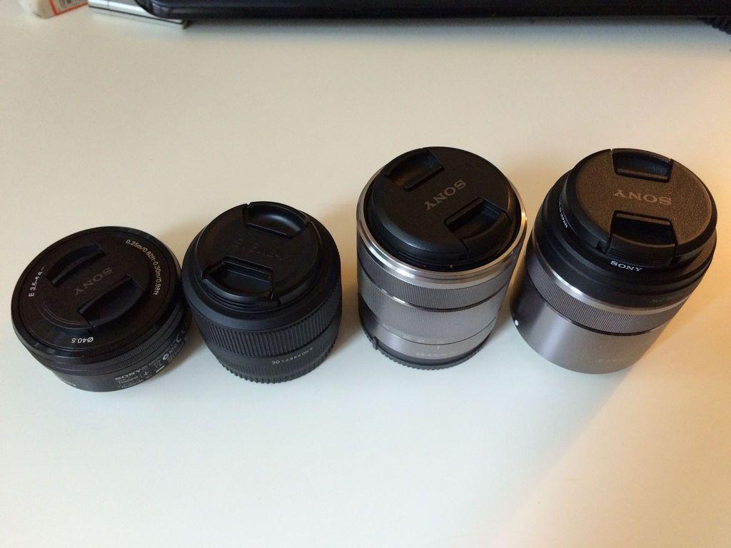 Sigma 30 f2.8 vs Sony SEL18-55 vs SELP1650 vs SEL30M35