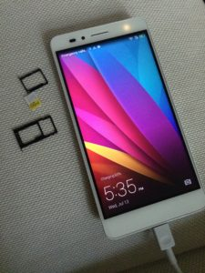 iPhone5s から Huawei Honor 5X へ乗換え